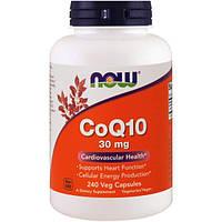 Now Foods, CoQ10, 30 мг, 240 растительных капсул, NOW-03190