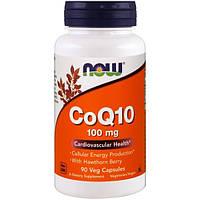 Now Foods, CoQ10 с боярышником, 100 мг, 90 растительных капсул, NOW-03212