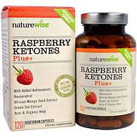 NatureWise, Малиновые кетоны Плюс, 120 вегетарианских капсул, NTW-01927