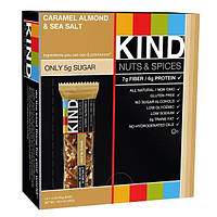 KIND Bars, Nuts & Spices, Caramel Almond & Sea Salt, 12 Bars, KIN-17179
