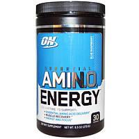 Optimum Nutrition, Энергетическая добавка с незаменимыми аминокислотами, Голубая малина, 0,6 фунтов (270 г), OPN-02682