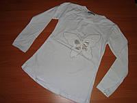 Блузка белая бабочка размер 6 7лет