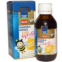 Manuka Health, Детский сироп с медом манука, MGO 250+, 3,5 жидких унций (100 мл), MAN-00164