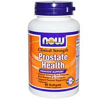 Now Foods, Здоровье предстательной железы, Клиническая сила, 90 гелевых капсул, NOW-03348