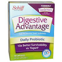 Schiff, Преимущество пищеварения, ежедневный пробиотик, 50 капсул, GAN-18167
