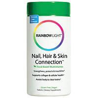Rainbow Light, Connection для ногтей, волос и кожи, формула на основе продуктов питания, 60 таблеток, RLT-10223
