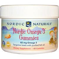 Nordic Naturals, Жевательные конфеты Nordic Omega-3 Gummies, со вкусом мандарина, 60 конфет, NOR-30130