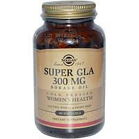 Solgar, Супер ГЛК, Масло бурачника, Комплекс для поддержания женского здоровья, 300мг, 60гелевых капсул, SOL-02676