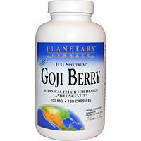 Planetary Herbals, Ягоды годжи, 700 мг, 180 капсул, PTF-10619