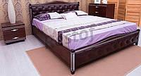 Кровать Прованс (патина, фрезеровка, мягкая спинка, ромбы)
