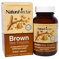 NaturaNectar, Коричневый пчелиный прополис, 60 капсул в растительной оболочке, NNR-32662