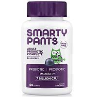 SmartyPants, Complete, Пробиотик для Взрослых, Голубика, 60 Жевательных Сладостей, SMA-02003