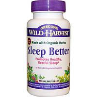 Oregon's Wild Harvest, Sleep Better , 90 вегетерианских капсул без ГМО, OWH-00454