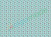 Фетр с принтом ПИНГВИНЧИКИ, 22x30 см, корейский мягкий 1.2 мм