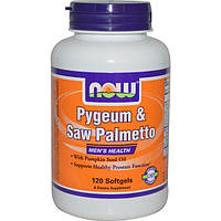 Now Foods, Слива и со пальметто, для мужского здоровья, 120 мягких капсул, NOW-04729