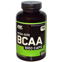 Optimum Nutrition, Mega-Size BCAA 1000, 1000 мг, 200 капсул, OPN-02037