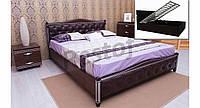 Кровать Прованс (подъемный механизм, патина, фрезеровка, мягкая спинка, ромбы)