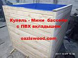 Прямоугольная купель 125х75х125см Мини бассейн с вкладышем из ПВХ лайнера для бассейнов, фото 8