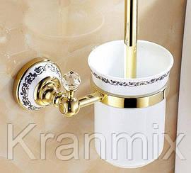 Ершик для унитаза Aquaroom золото