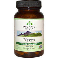 Organic India, Ним, очиститель крови, 90 капсул растительного происхождения, ORI-00054