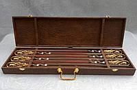 Шампуры Кабан набор шампуров в футляре ручная работа 6шт