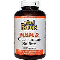 Natural Factors, МСМ и глюкозамин сульфат, 180 капсул, NFS-02699