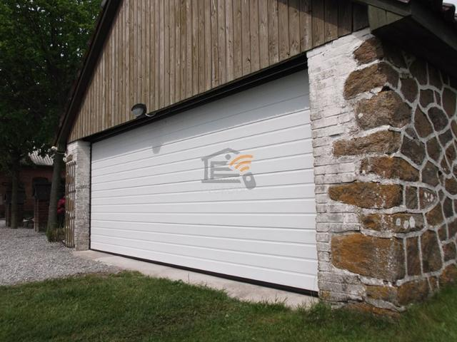 автоматические ворота гаражные секционные