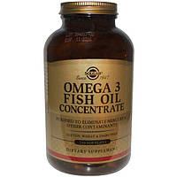 Solgar, Омега-3 рыбий жир концентрат, 240 капсул, SOL-01699