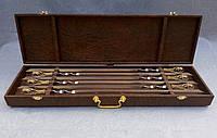 Шампура Дикий Кабан набор шампуров в футляре ручная работа 6шт