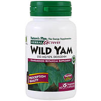 Nature's Plus, Herbal Actives, Wild Yam, 250 mg, 60 Veggie Caps, NAP-07294
