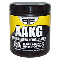 Primaforce, ААКГ, Аргинин Альфа-Кетоглутарат, порошок без вкуса, 250 г, PMF-02002