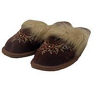 Комнатные кожаные теплые женские тапочки Nowbut N668 36 размер