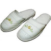 Комнатные кожаные теплые женские тапочки  Nowbut N616 36 размер