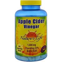 Nature's Life, Яблочный уксус, 250 вегетарианских таблеток, NLI-96421