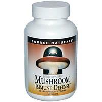 Source Naturals, Грибная иммунная защита, комплекс из 16 грибов, 60 таблеток, SNS-01609