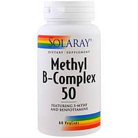 Solaray, Метил B-комплекс 50, 60 вегетарианских капсул, SOR-59912
