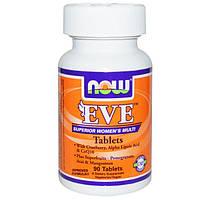 Now Foods, Ева, улучшенные женские мультивитамины, 90 таблеток, NOW-03796