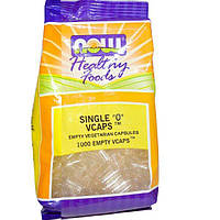 Now Foods, Здоровая пища, отдельные нулевые капсулы, 1000 пустых капсул на растительной основе, NOW-05104