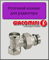 """Отсечной клапан 1/2"""" Giacomini угловой"""