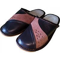 Комнатные мужские кожаные тапочки Cobi-m C417-01 44 размер. Уценка
