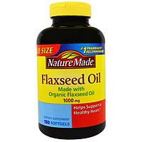 Nature Made, Льняное масло, 1000 мг, 180 мягких таблеток, NDM-01715