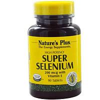 Nature's Plus, Super Selenium, супер селен, 200 мкг, 90 таблеток, NAP-03501