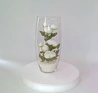 Цветы искусственные в вазе бочонке