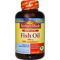 Nature Made, Рыбий жир, Омега-3, 1000 мг, 150 жидких капсул, NDM-02665