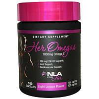 NLA for Her, Омега для нее, легкий аромат лимона, 1000 мг, 100 капсул, NLS-32286