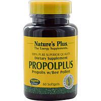 Nature's Plus, Propolplus, прополис с пчелиной пыльцой, 60 капсул, NAP-03787
