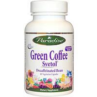 Paradise Herbs, Зеленый кофе, Svetol, 60 капсул на растительной основе, PAR-77833