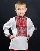 Сорочка для хлопчика (з червоним орнаментом)
