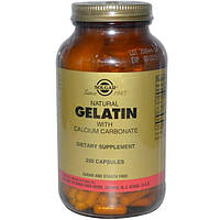 Solgar, Натуральный желатин с карбонатом кальция, 250 капсул, SOL-01241