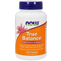 Now Foods, Истинный баланс, мультивитамин и минералы, 120 капсул, NOW-03380